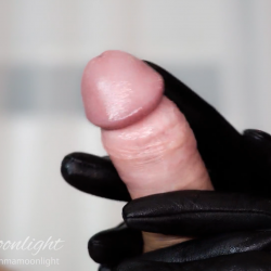 Girl with gloves tugs and fucks